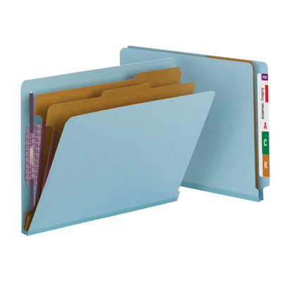 End Tab Classification Folders with SafeSHIELD® Coated Fastener - folder dividers tabs