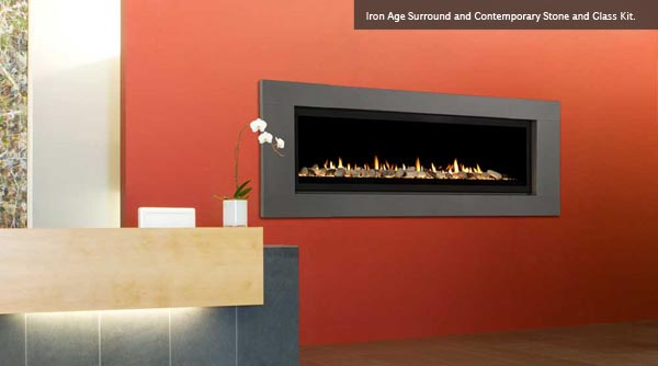 Linear Aura 70quot Direct Vent Natural Gas Linear Fireplace