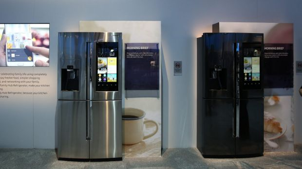The Samsung Family Hub Refrigerator at CES 2016.
