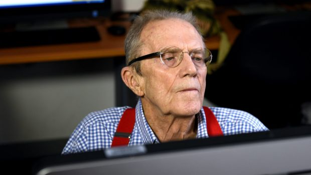 Barrie Jones uses a program that helps his memory at the Brain and Mind Centre at Chippendale.