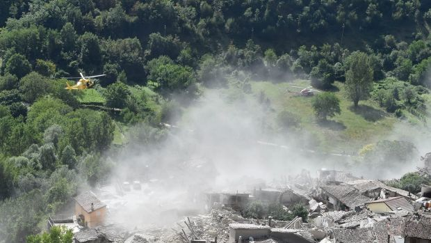 Pescara del Tronto - the town destroyed by the earthquake.