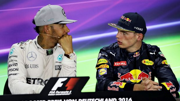 Give him a break: Lewis Hamilton has leapt to the defence of Max Verstappen after controversy over his driving at Spa.