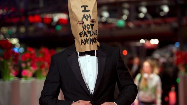 LaBeouf appeared with a paper bag over his head that said 'I am not famous anymore' at the Berlin Film Festival in 2014.