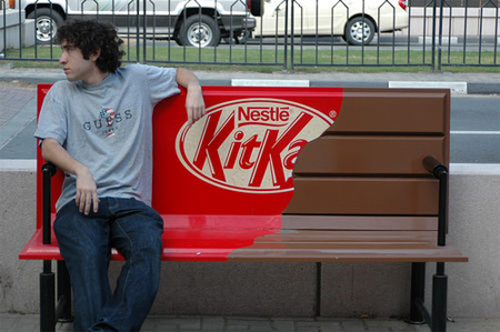 KitKat Bench Advertisement