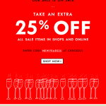 Take an Extra 25% Off Kate Spade email