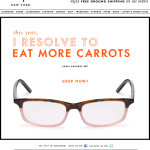 I Resolve to Eat More Carrots Kate Spade email