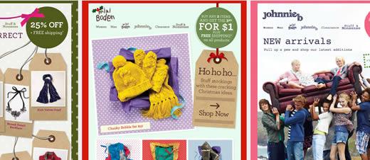 Boden email design showcase