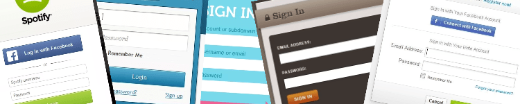 Login forms design gallery banner