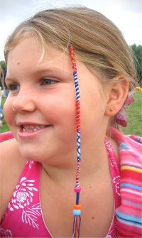 Childrens Hair Wraps with Smiley Cats