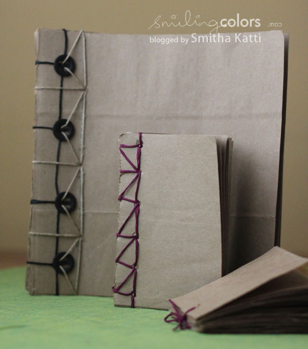Recycled Grocery Bag Books tutorial