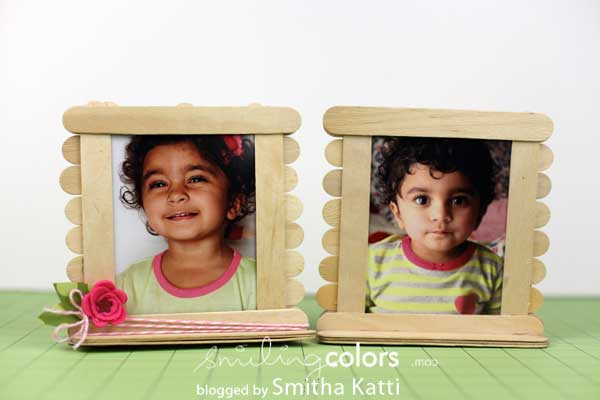 Popsicle Photo Frames: Make it with kids Monday