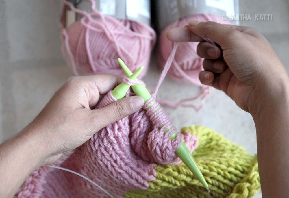 learn how to knit easy