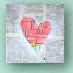 Easy DIY Wall Art: Heart on Canvas