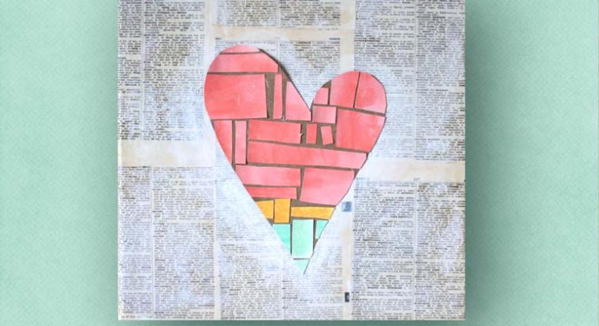 DIY heart wall art tutorial