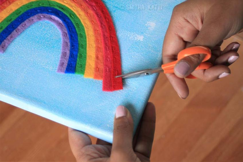Rainbow felt Diy