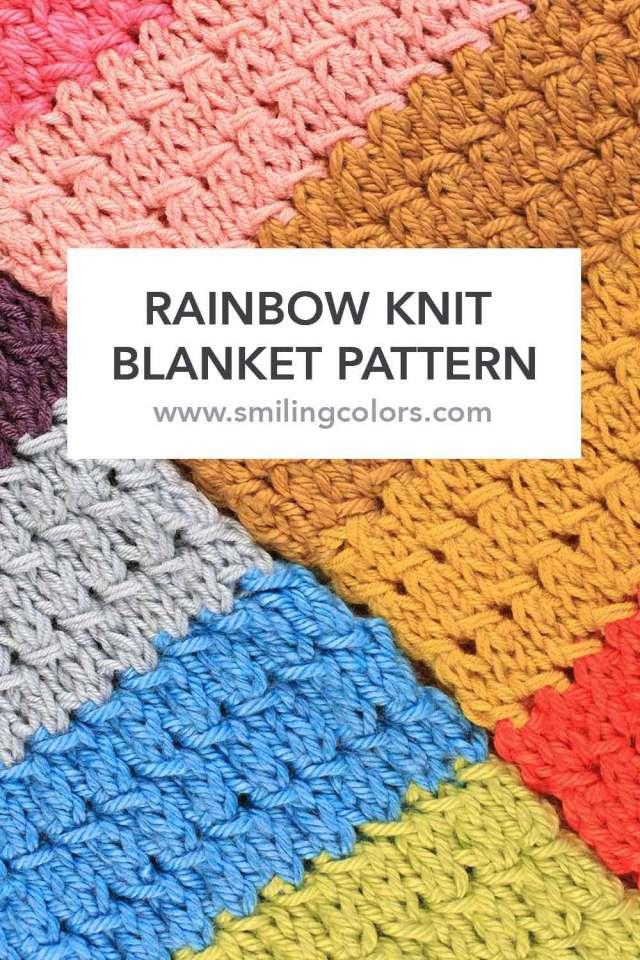 Rainbow Knit Blanket Pattern - Smitha Katti