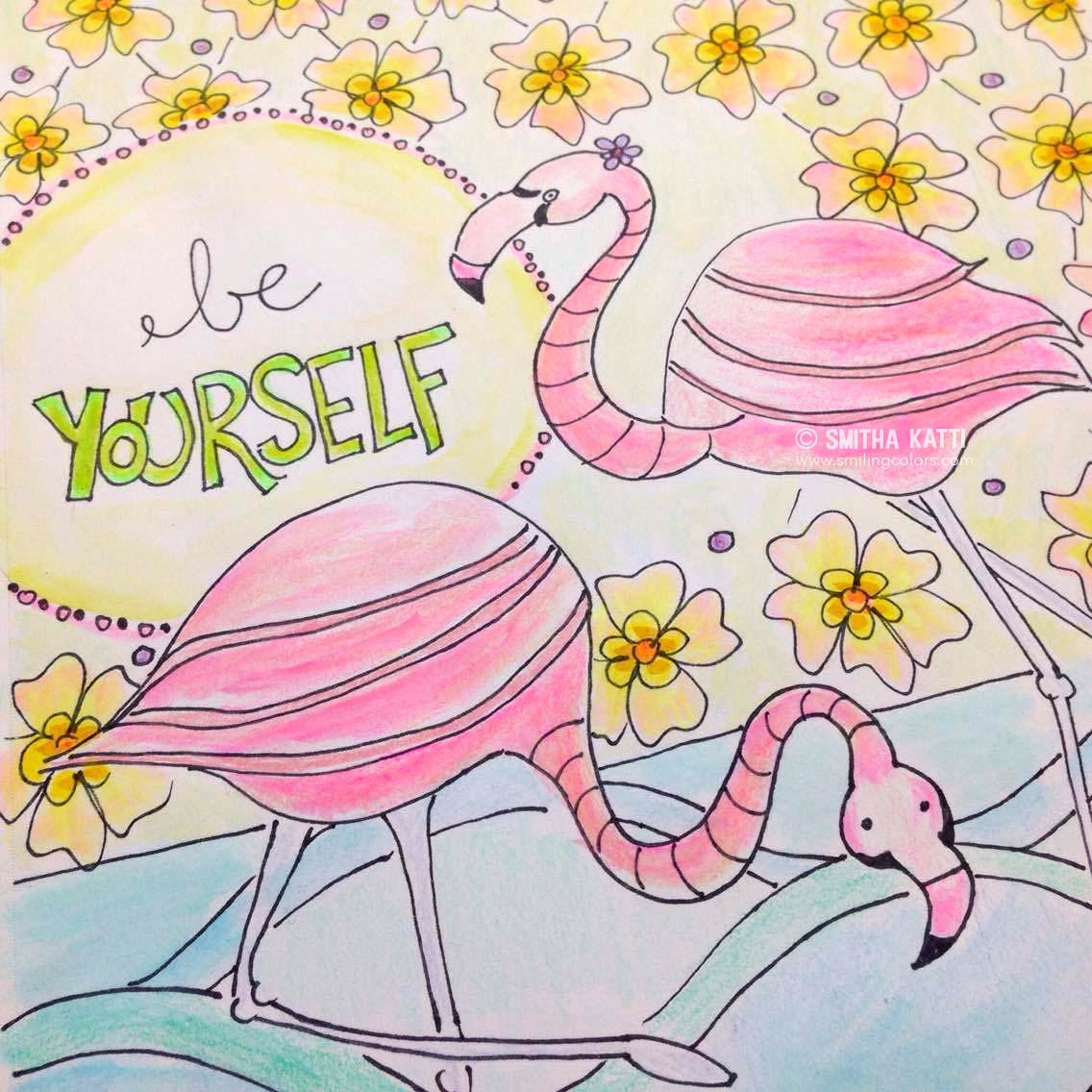 Flamingo Coloring page printable