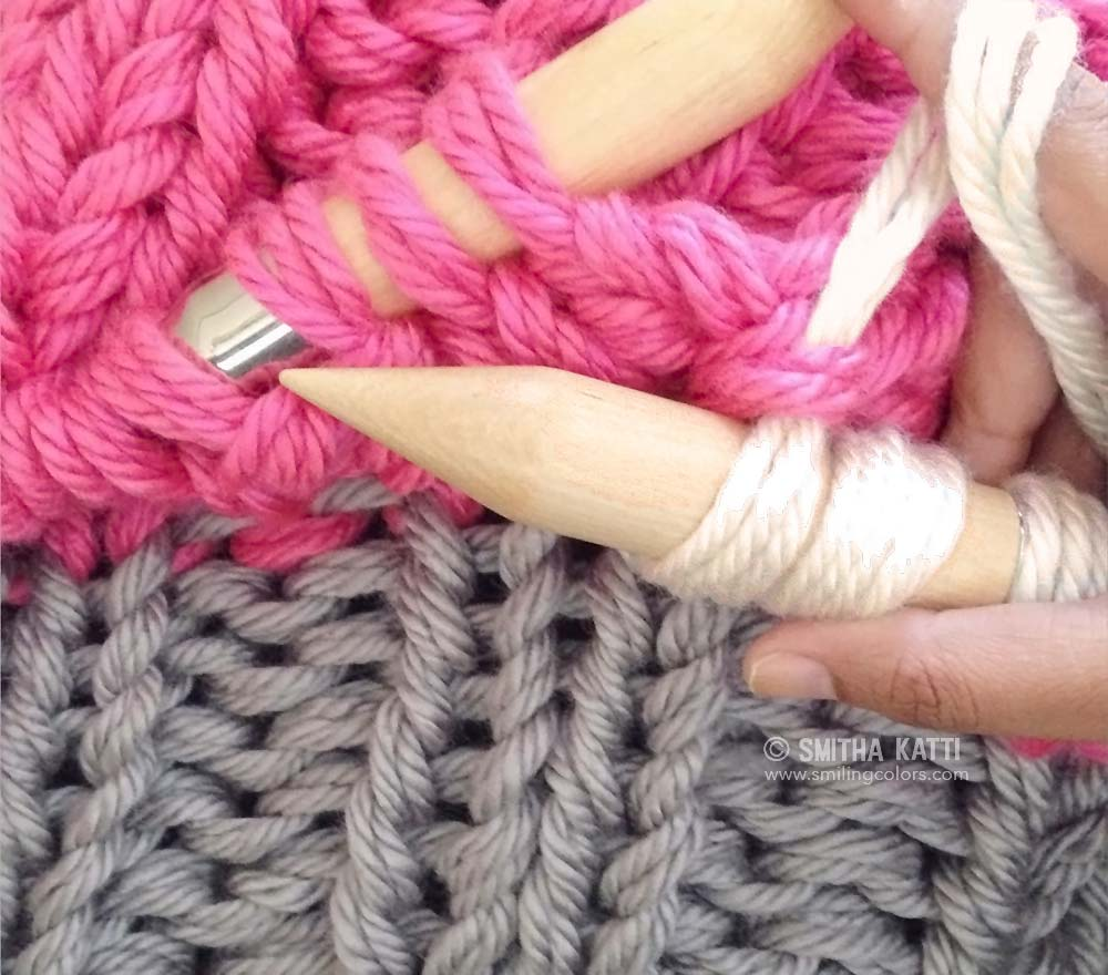 Knitting 3 Stitches Together : Bulky knit blanket free pattern - Smitha Katti