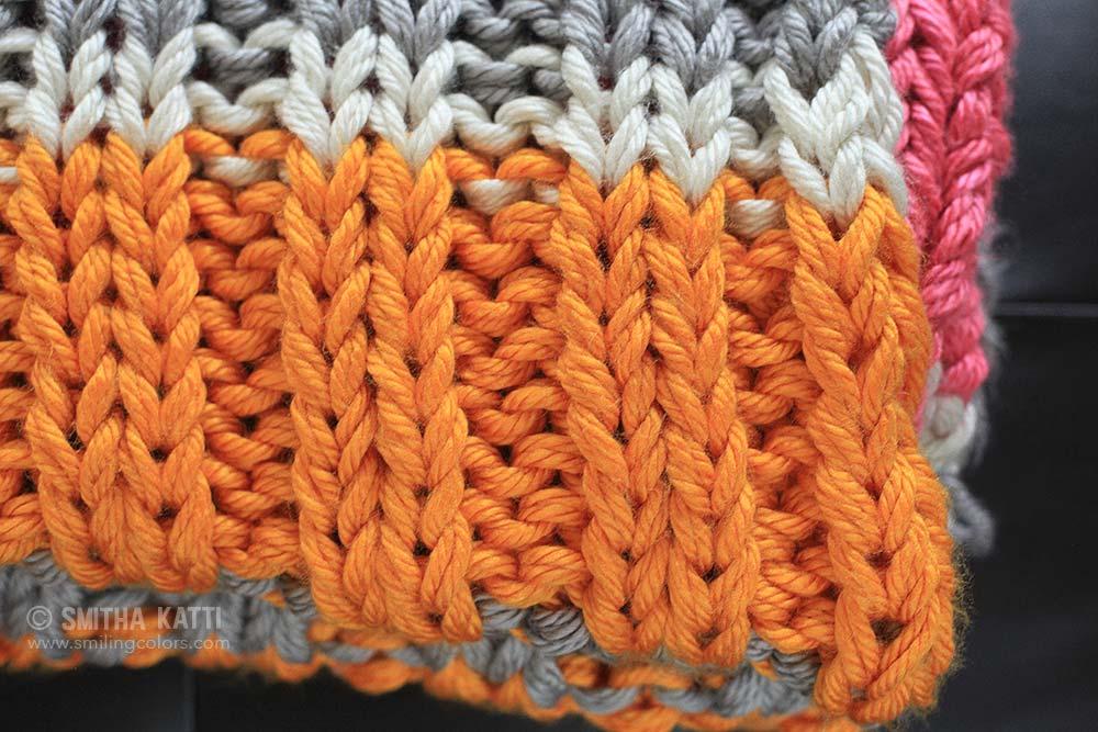 Free Knitting Patterns Using Chunky Yarn : Bulky knit blanket free pattern - Smitha Katti
