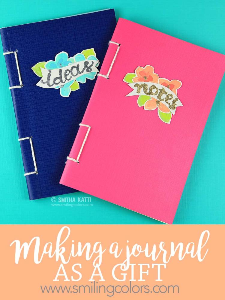 making a journal as a gift