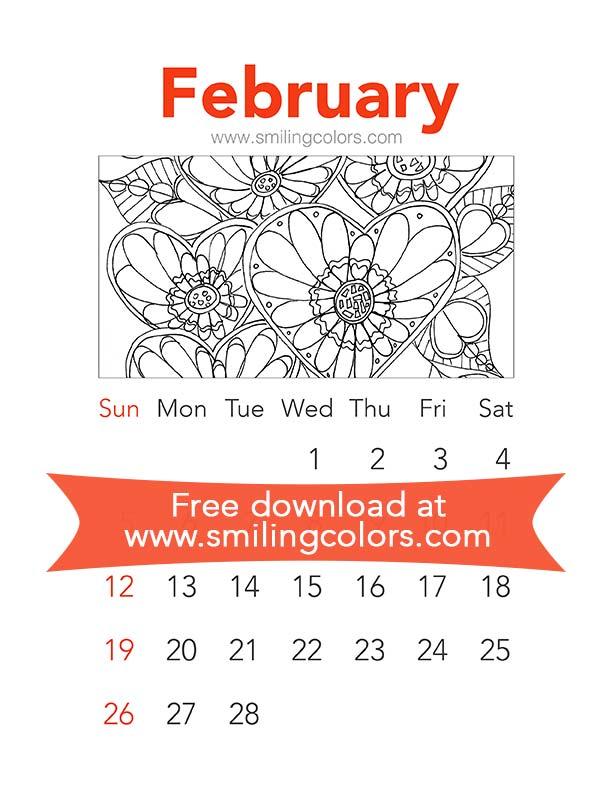 Free coloring calendars