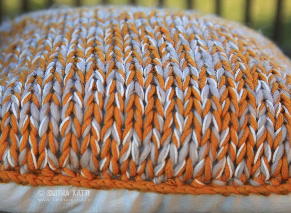 Chunky Knit Cushion Pattern Free : How to make a quick chunky knit pillow - Smitha Katti