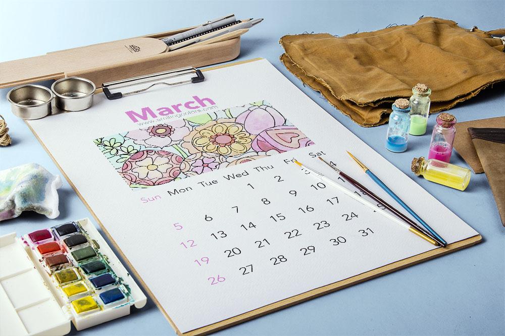 March_watercolor_calendar_printable
