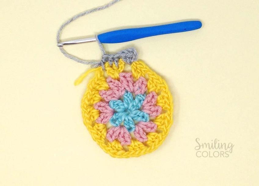Granny circle crochet tutorial