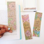 Free coloring bookmarks to make your reading colorful