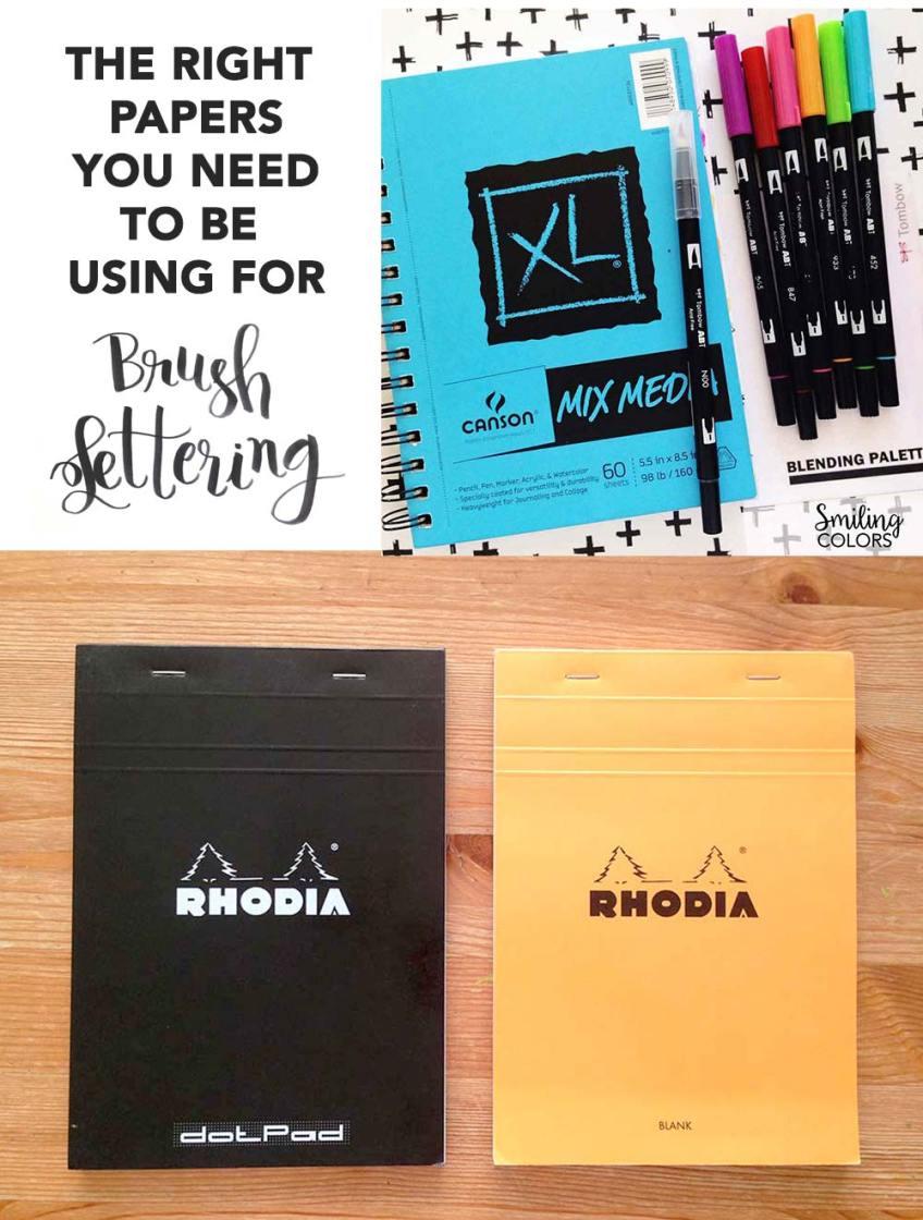 brush lettering papers sketchbooks