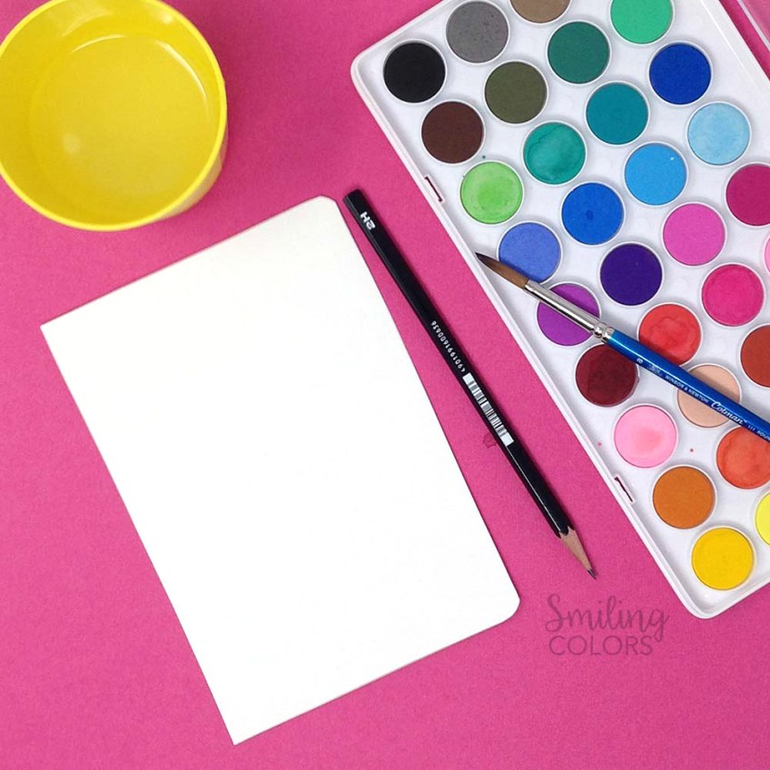 watercolor notebook cover