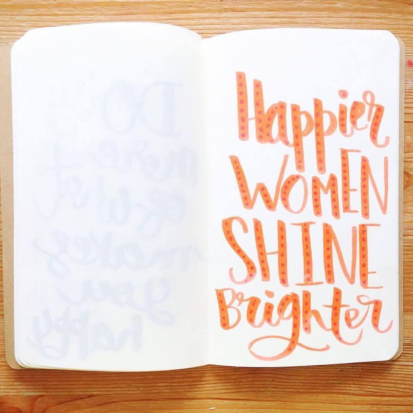 Happier women shine brighter