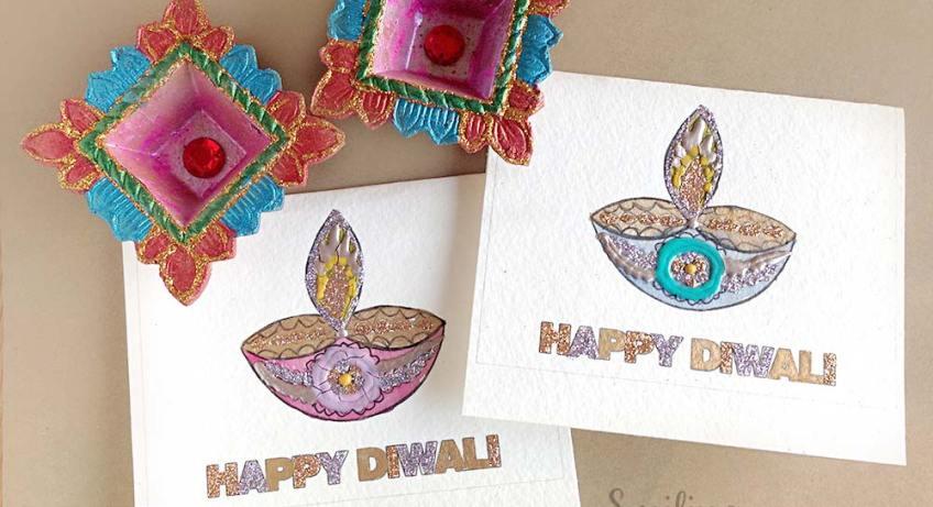 DIY Diwali Card print at home
