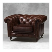 Leather Chesterfield Style Sofa Halo Earle Aniline Leather ...