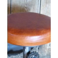 Bike Seat Pedal Bar Stools - Tan Leather Bar Stools With ...