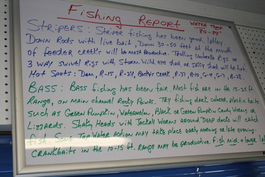 Fishing Report updated on a daily basis