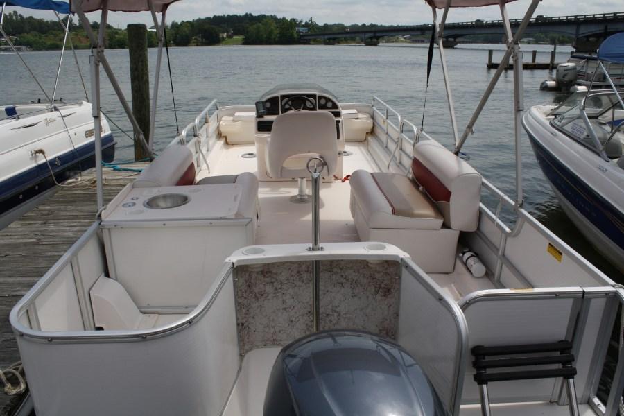 Deck Boat Red Trim Hurricane