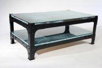 Retro Industrial Coffee Table - Vintage Steampunk - Buy Online
