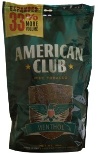 American Club Menthol Pipe Tobacco 16oz Bag - Smokes ...