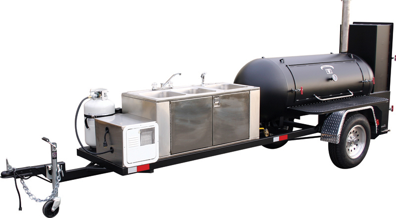 Stainless Steel Self Contained Sink For Bbq Trailers