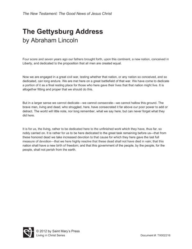 ... Handwritten Tribute to the Gettysburg Address | The White House