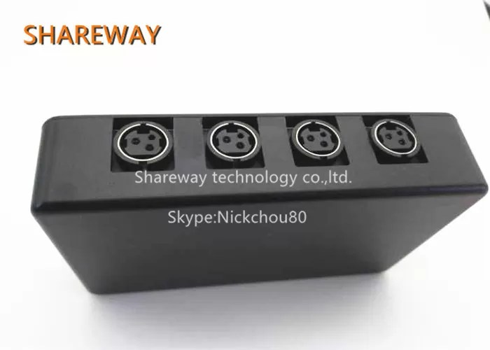 108 * 66 * 26mm PoE RJ45 Connector 214840REVA Black Color With RoHS