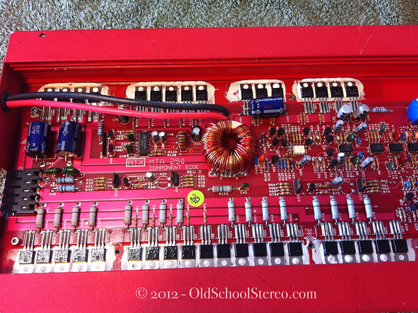 Old School Stereo 1990 MTX Terminator MTA 250 Amplifier - PPI Built