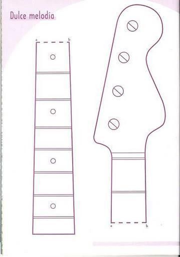 12 Acoustic Guitar Cakes Patterns Templates Photo - Guitar Cake