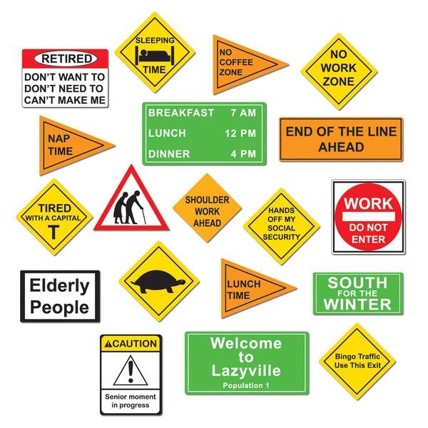 12 Retirement Cakes Road Signs Photo - Retirement Road Cake