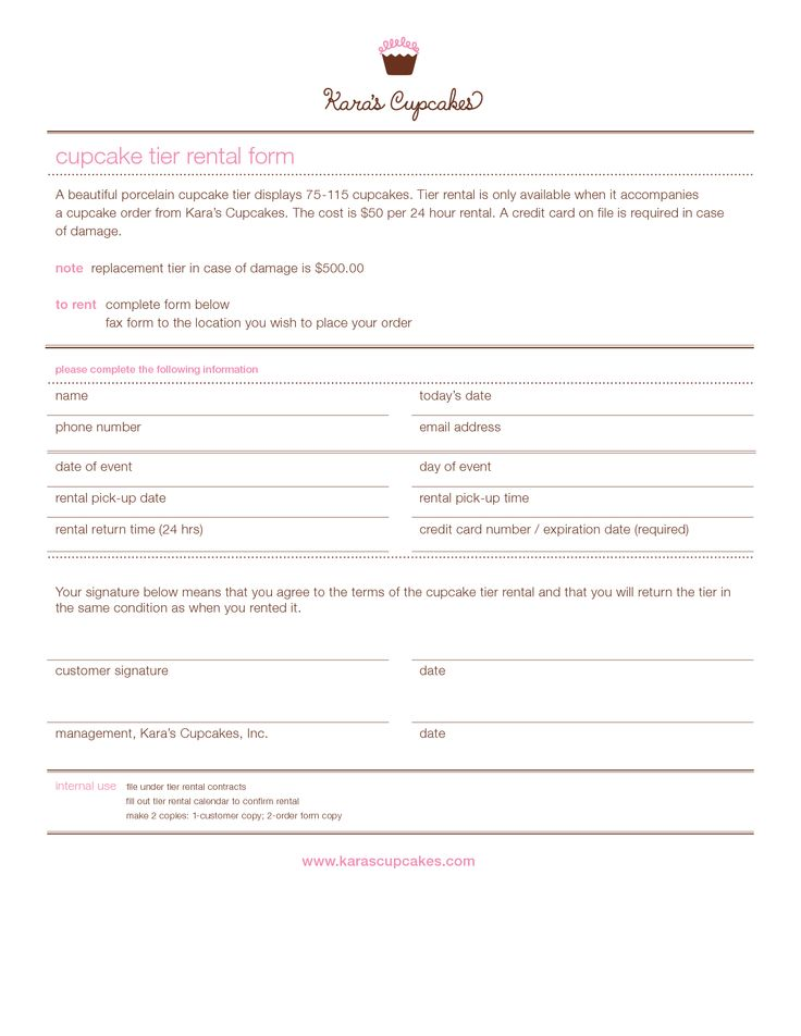 10 Order Form Twist Cupcakes Photo - Cupcake Bakery Order Form - cake order form template example