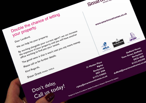 Snake Lane Design in Derby Derbyshire Smartmove Promotional Flyers