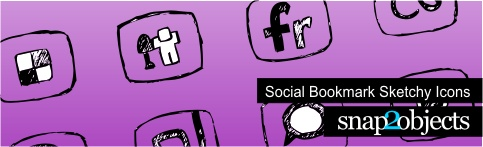 Social Bookmark Sketchy Icons