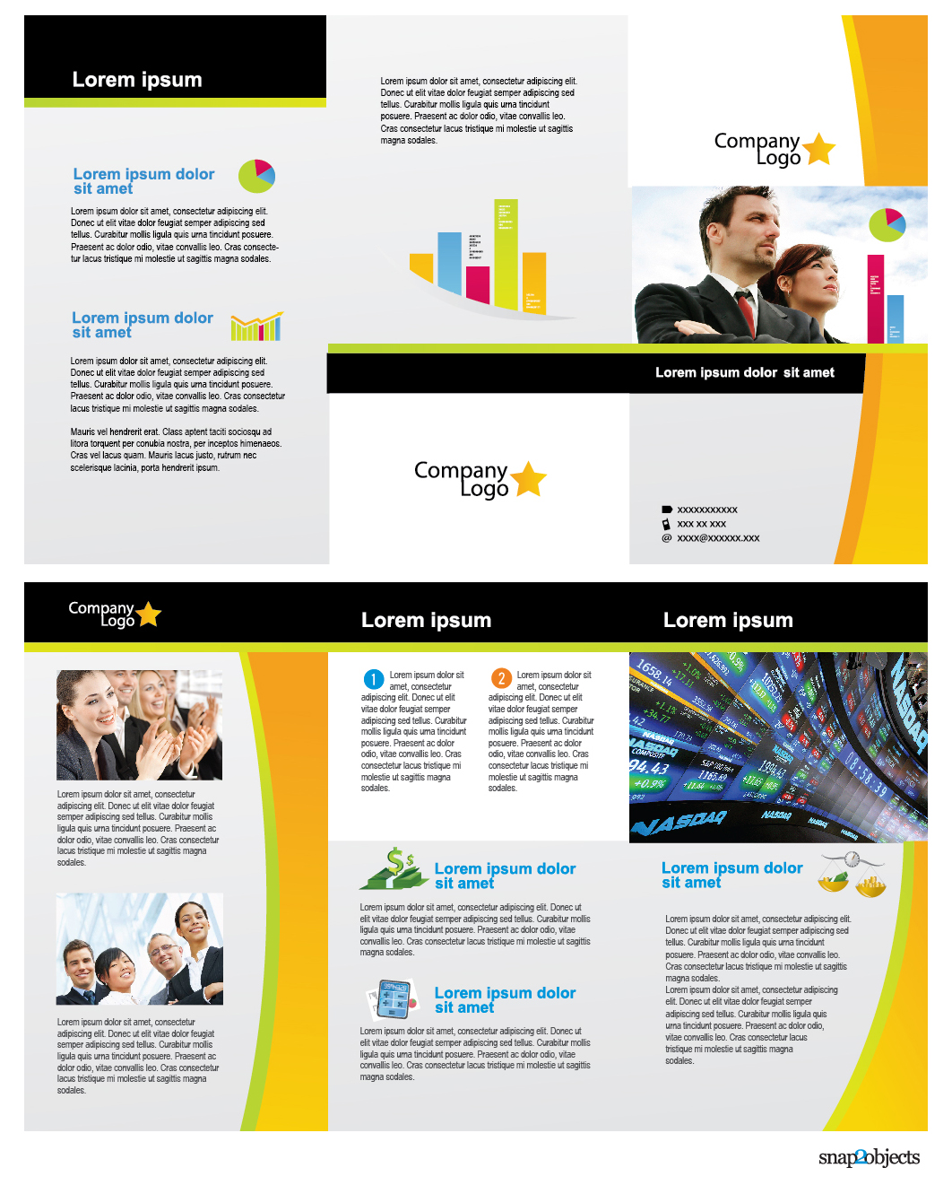Free Business Vector Brochure Template In Illustrator Snap2objects
