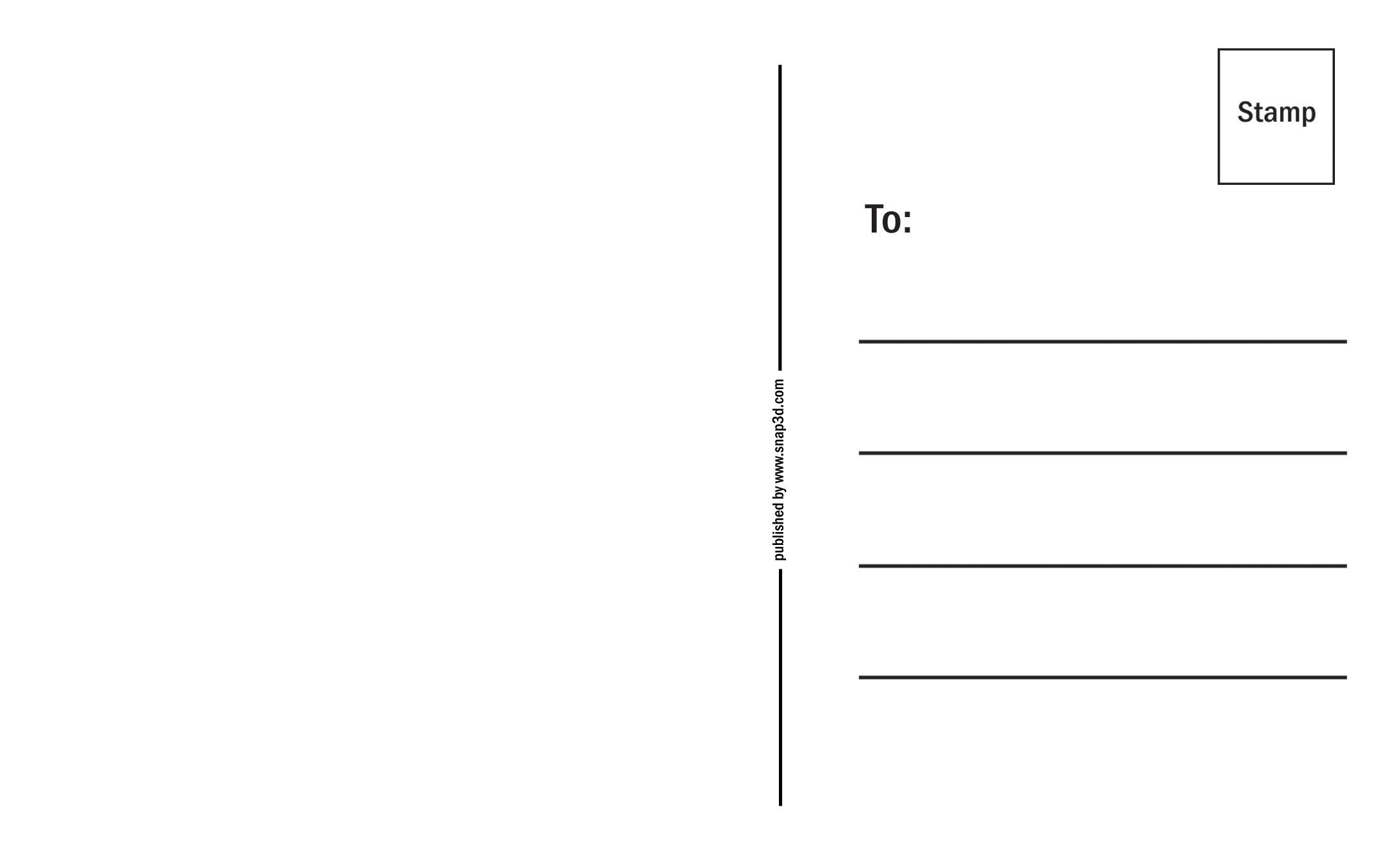 4x6 Postcard Template Word | Sample CV Resume